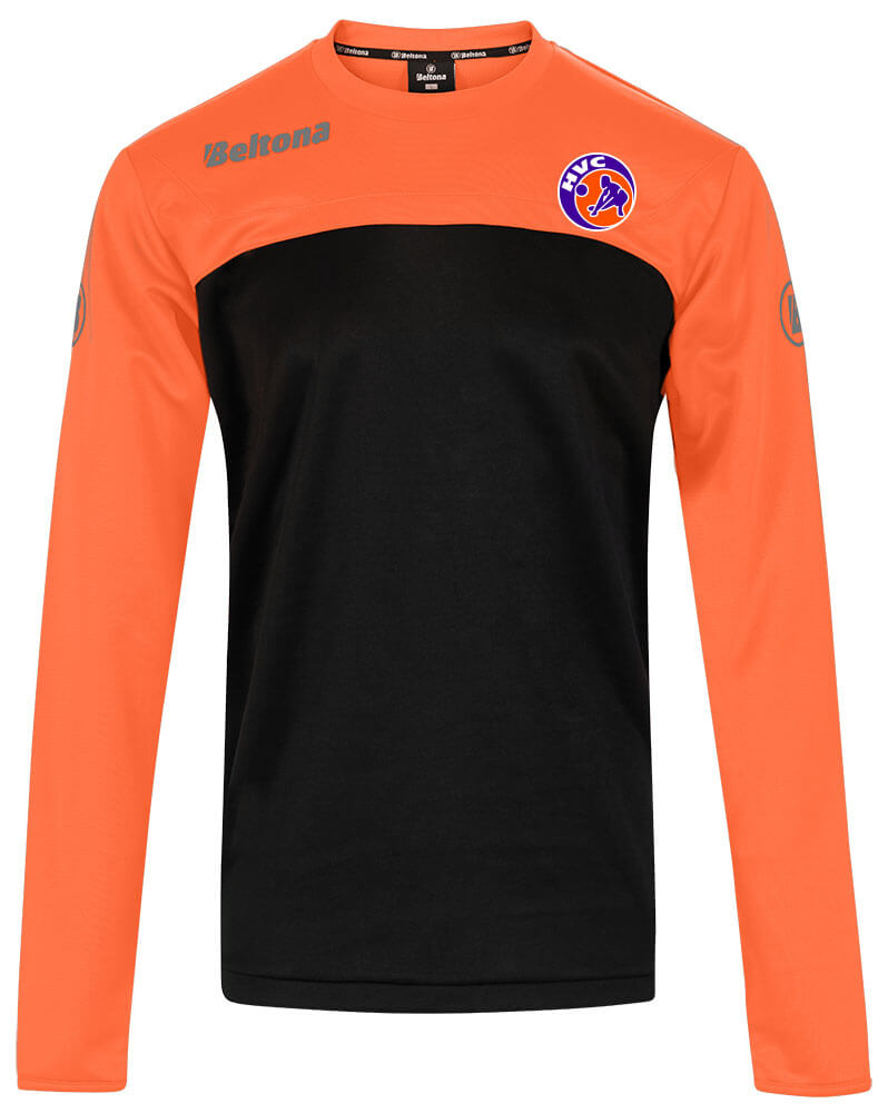 Chelsea-TrainingTop-Oranje-V-sweater